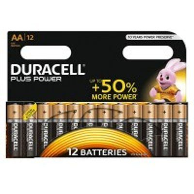 Duracell MN1500B12PP Plus Power AA Batteries - 12 Pack