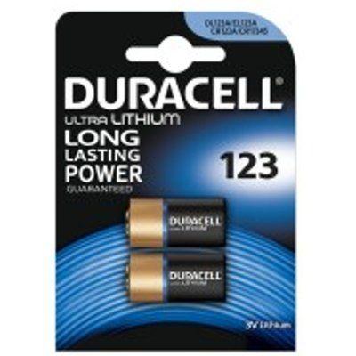 Duracell DL123B2 2 Pack 3V Ultra Lithium Batteries