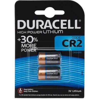 Duracell Ultra Lithium CR2 Batteries - Pack of 2