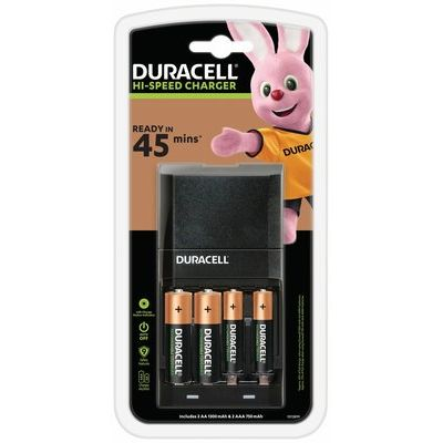 Duracell CEF27 Battery Charger with 2x AA & 2x AAA