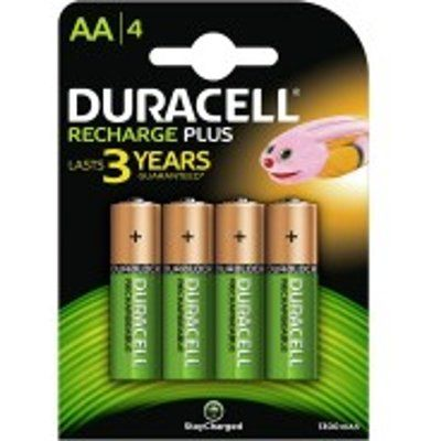 Duracell HR6B4 Stay Charged AA 4x Batteries 1300mAh