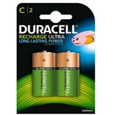 Duracell HR14B2 2200mAh 2x Rechargeable C Batteries