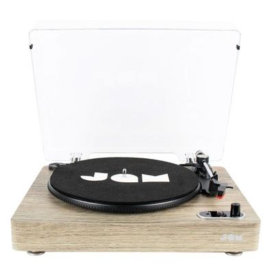JAM Vinyl Bluetooth Turntable Record Player - Light Wood