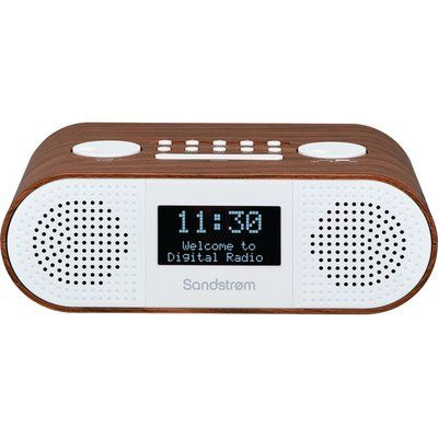 Sandstrom S-DBTW18 DAB Bluetooth Clock Radio - Wood