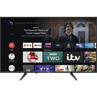 Logik L43AUE21 Android TV Smart 4K Ultra HD HDR LED TV with Google Assistant