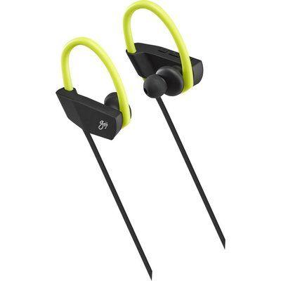 Goji GSHOKBT18 Wireless Bluetooth Headphones - Black & Green