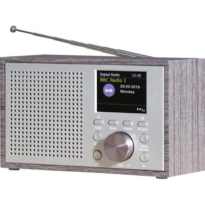 Daewoo AVS1323 Portable DAB Retro Radio - Grey