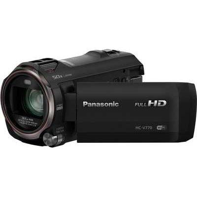 Panasonic HC-V770 FHD 12.76MP 20xZoom 3.0LCD WiFi Camcorder - Black