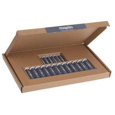Maplin Extra Long Life High-Performance Alkaline AA / AAA Batteries - Pack of 12 x AA / 6 x AAA
