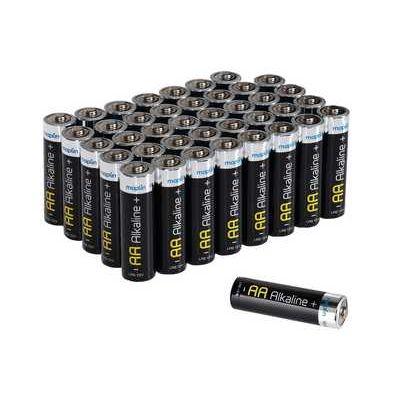 Maplin Extra Long Life High Performance Alkaline AA Batteries - Pack of 40