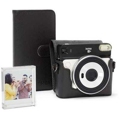 Fujifilm Instax SQ6 Accessory Kit with Case, Album & Photo Frame - Black