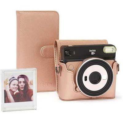 Fujifilm Instax SQ6 Accessory Kit with Case, Album & Photo Frame - Blush Gold