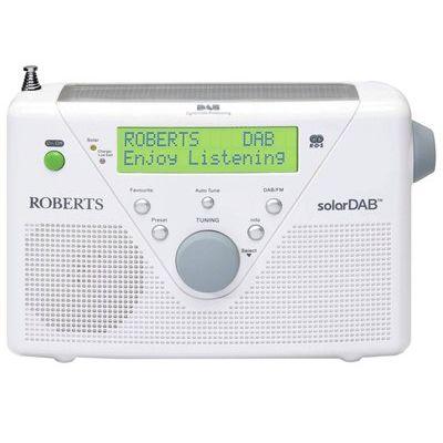 Roberts Solar DAB/FM Solar Powered Radio - White.