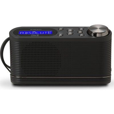Roberts PLAY10 Portable DAB Radio - Black