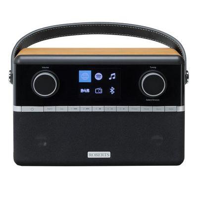 Roberts Stream 94i Portable DAB Smart Bluetooth Clock Radio - Black & Wood