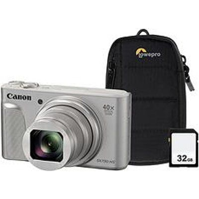 Canon PowerShot SX730 HS Superzoom Compact Camera with 32 GB SD Card and Case - Silver