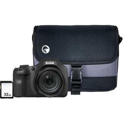 Kodak PIXPRO AZ652 Bridge Camera with Case & SD Card - Black