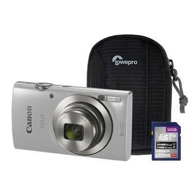 Canon IXUS 185 Compact Camera Kit with 32 GB SD Card and Case - Silver
