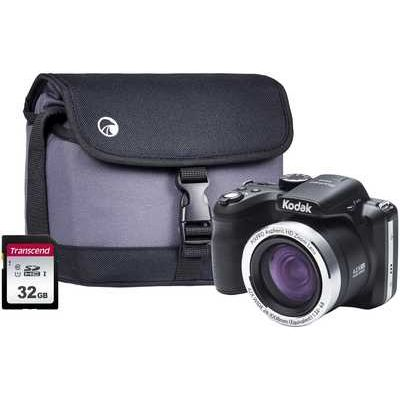 Kodak PIXPRO AZ422 Digital Bridge Camera Kit including 32GB SDHC Card & Case - Black