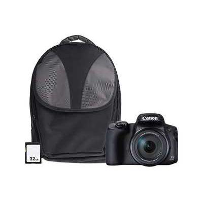 Canon PowerShot SX70 HS 4K 20.3MP 65x Zoom Wifi Camera Kit inc 32GB & Case - Black