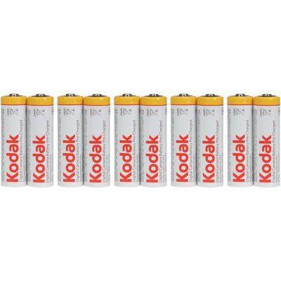 Kodak Easy Packaging Rechargeable Ni-MH AA Batteries - Pack of 10