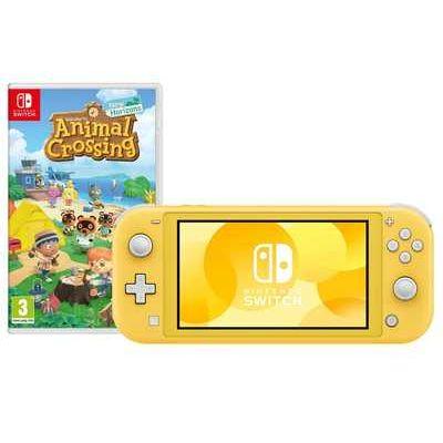 Nintendo Switch Lite Console + Animal Crossing Game Bundle - Yellow