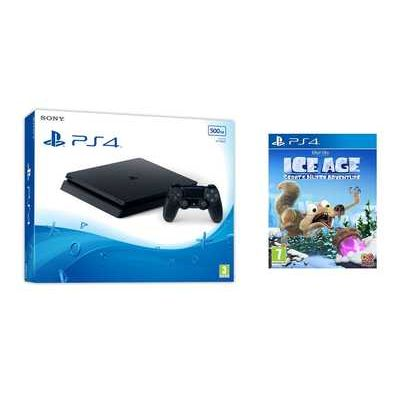 Sony PlayStation 4 500GB Jet Black Console with Ice Age: Scrats Nutty Adventure