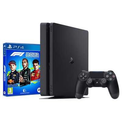 Sony PlayStation 4 500GB Jet Black Console with F1 2021 Game