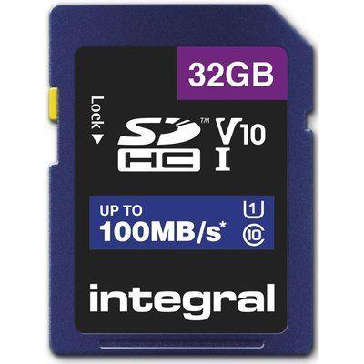 Integral 32GB High Speed V10 100mb Class 10 UHS-I U1 SDHC Memory Card