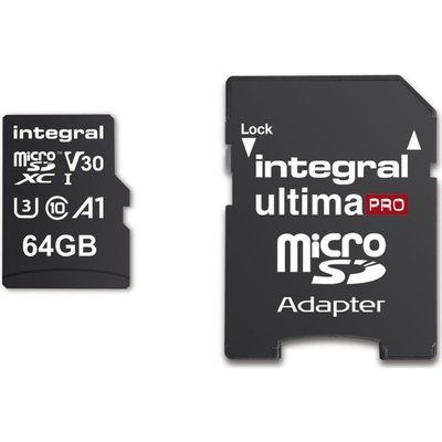 Integral 64GB High Speed V30 UHS-I U3 MicroSDHC Memory Card