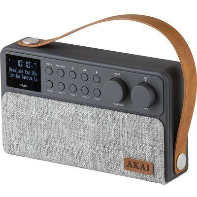 Akai A61028 Portable DAB Bluetooth Radio - Grey