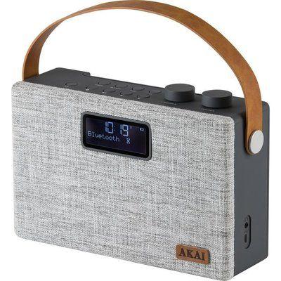 Akai A61029 Portable DAB Bluetooth Radio - Grey