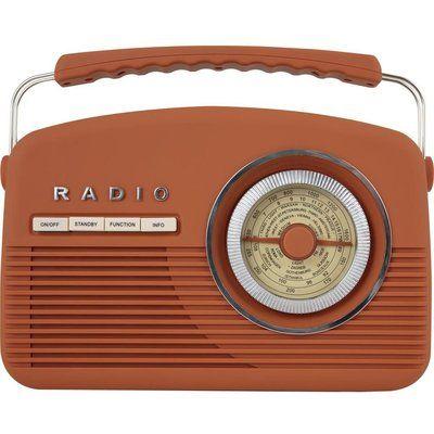 Akai Vintage A60010VDABBO Portable DAB Radio - Burnt Orange