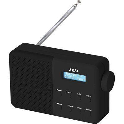 Akai A61041B Portable DAB Radio - Black