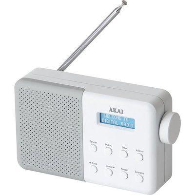 Akai A61041G Portable DAB Radio - White