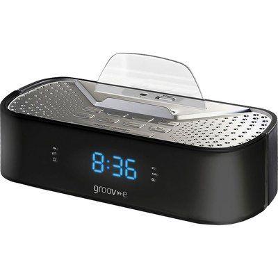 Groov-E Time Curve GV-SP406-BK FM Clock Radio - Black