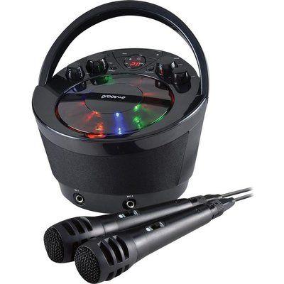 Groov-E GV-PS923-BK Portable Bluetooth Karaoke Boombox - Black