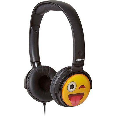 Groov-E GV-EMJ11 EarMOJI s Cheeky Face Kids Headphones - Black