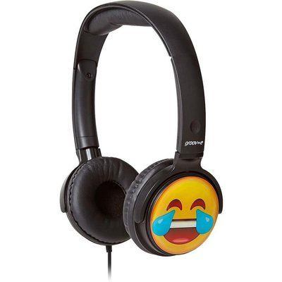 Groov-E GV-EMJ12 EarMOJIs Laughing Face Kids Headphones - Black