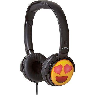 Groov-E GV-EMJ13 EarMOJIs Heart Eyes Face Kids Headphones - Black