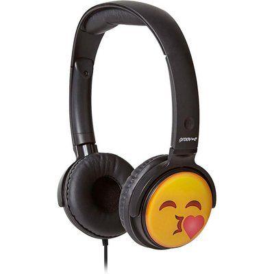 Groov-E GV-EMJ14 EarMOJIs Kissing Face Kids Headphones - Black