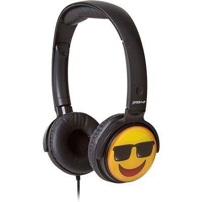 Groov-E GV-EMJ15 EarMOJIs Cool Face Kids Headphones - Black
