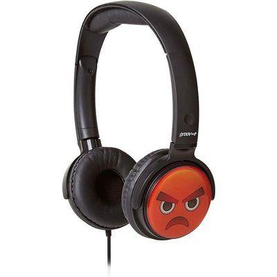 Groov-E GV-EMJ11 EarMOJIs Angry Face Kids Headphones - Black
