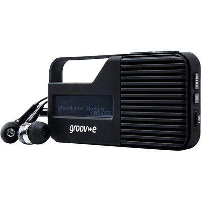 Groov-E Rio GV-DR01-BK Portable Radio - Black