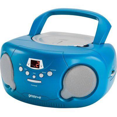 Groov-E Original Boombox GV-PS733 Portable FM/AM Boombox - Blue
