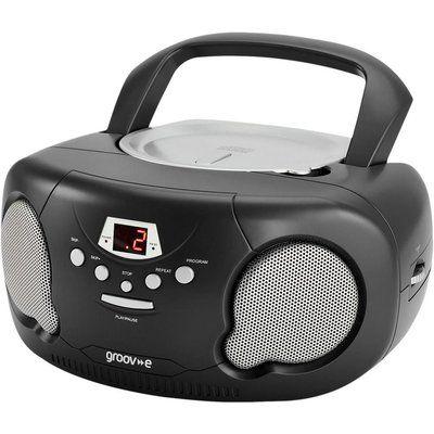 Groov-E Original Boombox GV-PS733 Portable FM/AM Boombox - Black