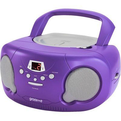 Groov-E Original Boombox GV-PS733 Portable FM/AM Boombox - Purple