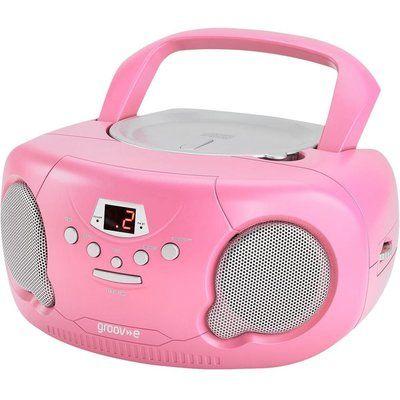 Groov-E Original Boombox GV-PS733 Portable FM/AM Boombox - Pink