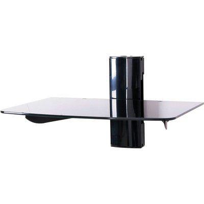 Ttap TTD-1 Single Glass Wall Shelf - Black