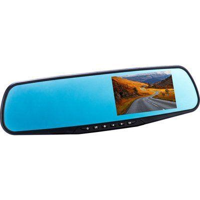 Co-Pilot CPDVR3 Rear View Mirror Dual Dash Cam - Black